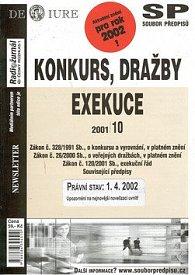 Konkurs, dražby, exekuce k 1.4.2002