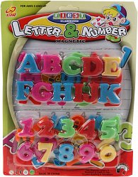 52 ks magnet. Čísla a písmenka