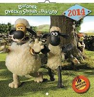 Kalendář 2014 - Ovečka Shaun - nástěnný poznámkový (ČES, SLO, MAĎ, POL, RUS, ANG, NĚM, ŠPA)