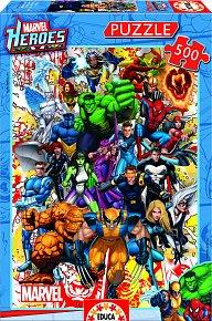 Puzzle Hrdinové Marvel 500 dílků