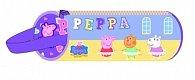 Prasátko Peppa - Penál s puzzlemi - fialový