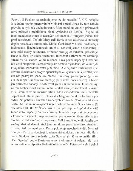 Náhled Deníky 1935-1939 - svazek 3
