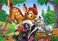 Puzzle Supercolor 104 dílků Kamarádi Bambi