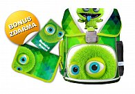 SET školní batoh Monster + jednopartový penál a úkolníček zd