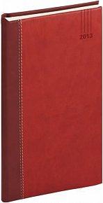 Diář 2013 - Splendor - Kapesní, vínovočervená, 9 x 15,5 cm