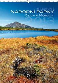 Kalendář 2013 nástěnný - Národní parky Čech a Moravy Zdeněk Ondruš, 33 x 46 cm