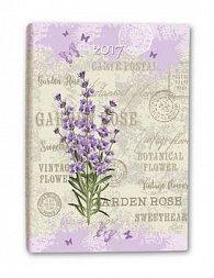 Diář B6 Lavender týdenní 2017