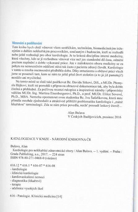 Náhled Kardiologie pro nelékařské zdravotnické obory