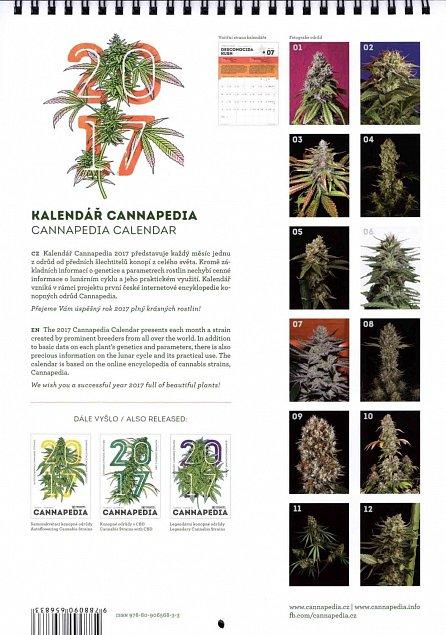Náhled Kalendář Cannapedia 2017 - Feminizované konopné odrůdy