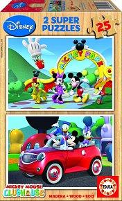 Puzzle Mickey Mouse, 2x25 dílků