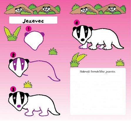 Náhled Učím se kreslit - Zvířátka z lesa