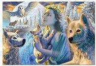 Puzzle Dívka s vlky 1000 dílků
