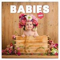 Kalendář poznámkový 2020 - Babies – Věra Zlevorová, 30 × 30 cm