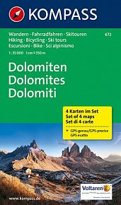 Dolomiten  ( sada 4 map )  672   NKOM