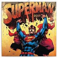 Kalendář poznámkový 2018 - Superman, 30 x 30 cm