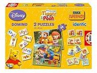 Hra Disney Medvídek Pú - domino, puzzle,pexeso