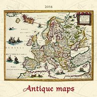 Antique maps - nástěnný kalendář 2014