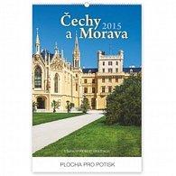 Kalendář 2015 - Čechy a Morava UNESCO Praktik - nástěnný s prodlouženými zády