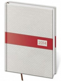 Diář 2014 - denní A5 Eclisse - bílá/červená
