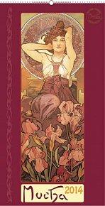 Kalendář 2014 - Alfons Mucha - nástěnný