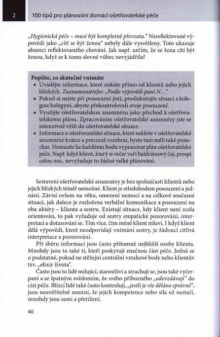Náhled 100 tipů pro plánování domácí ošetřovatelské péče