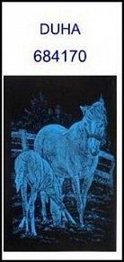Škrabací obrázek A5 kůň s hříbětem DUHA