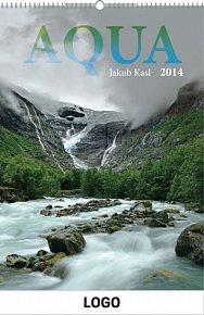 Kalendář 2014 - Aqua Praktik - nástěnný s prodlouženými zády