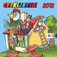 Kalendář nástěnný 2012 - Čtyřlístek s českými jmény, 30 x 60 cm