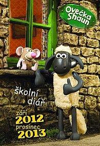 Ovečka Shaun - školní diář 2012/2013 (září 2012 - prosinec 2013)
