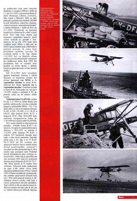 """Náhled """"ČÁP"""" Fieseler Fi 156 /C-5 /K-65 v československém vojenském letectvu - 2.díl"""