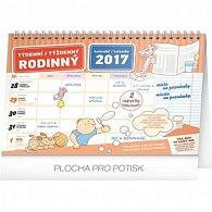 Kalendář 2017 - Rodinný plánovací týdenní s háčkem