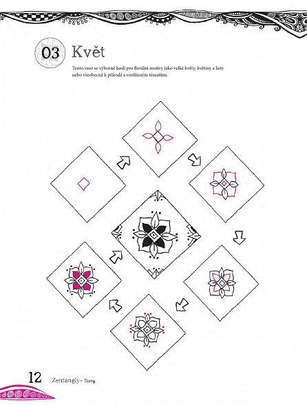 Náhled Relaxační omalovánky: Zentangly - Kreativní kresba pro každého