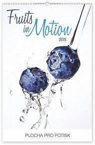 Kalendář 2015 - Ovoce v pohybu - nástěnný s prodlouženými zády