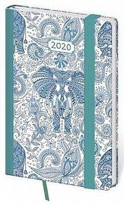 Diář 2020 - Vario/týdenní/kapesní/Elefant s gumičkou