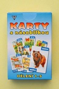 Karty s násobilkou dělení 1-5
