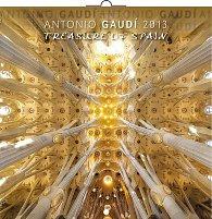 Kalendář 2013 poznámkový - Treasure of Spain Antonio Gaudí, 30 x 60 cm