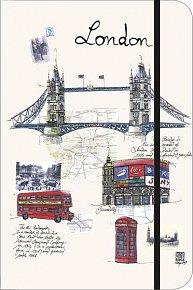 Zápisník London City Journal malý