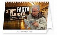 Kalendář stolní 2016 - Stopy, fakta, tajemství - Stanislav Motl,  23,1 x 14,5 cm