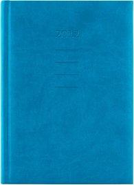 Diář koženkový 2012 - Print denní B6 - tyrkysová