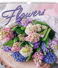 Kalendář nástěnný 2018 - Květiny