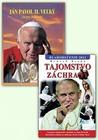 Balíček 2 ks Ján Pavol II. Veľký Stopy svätosti Tajomstvo záchrany Blahorečenie