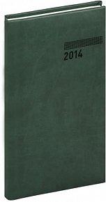 Diář 2014 - Tucson-Vivella - Kapesní, tmavě zelená (ČES, SLO, ANG, NĚM)