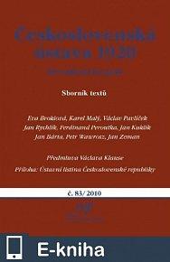 Československá ústava 1920: Devadesát let poté (E-KNIHA)