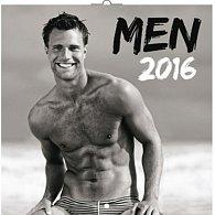 Kalendář nástěnný 2016 - Muži, poznámkový  30 x 30 cm (nemá české kalendárium)