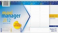 Kalendář 2012 - Maximanager modrý, stolní