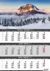 Kalendář nástěnný 2015 - Hory - 3měsíční
