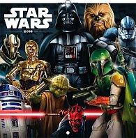 Kalendář nástěnný 2016 - Star Wars Classic, poznámkový  30 x 30 cm