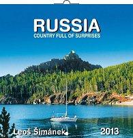 Kalendář 2013 poznámkový - Rusko Leoš Šimánek, 30 x 60 cm