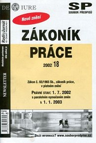 Zákoník práce s paralelně vyznačeným změn k 1.1.2003