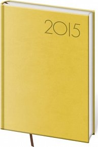 Diář 2015 - PRINT POP denní A5 - žlutá